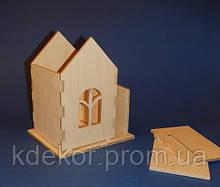 Домик для пожеланий (копилка) Чайный домик заготовка для декупажа и декора