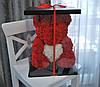 Насыщенно Красный Медведь из роз 45 см., фото 2