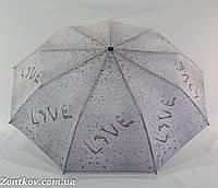 "Зонтик женский полуавтомат ""drops of rain"" от фирмы ""Calm Rain"""