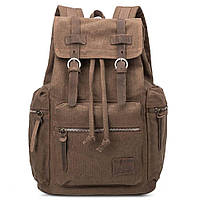 Городской рюкзак из Canvas и лошадиной кожи, коричневый BP-001-CF, фото 1