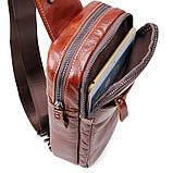 Кожаный мини-рюкзак на одну шлейку   на одной шлейке, фото 5
