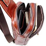Кожаный мини-рюкзак на одну шлейку   на одной шлейке, фото 6