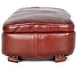 Кожаный мини-рюкзак на одну шлейку   на одной шлейке, фото 7