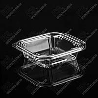 Упаковка для салатов безреберная с совместной крышкой РКСП-250, 520 шт/уп, фото 1