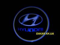 Проектор логотипа Hyundai в автомобильные двери Хюндай