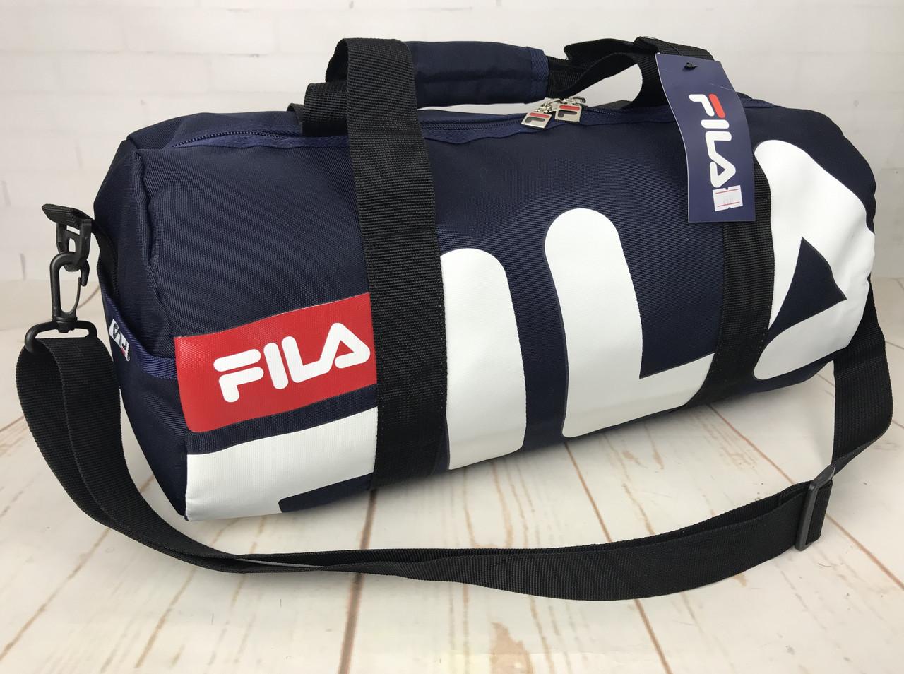e83f42448ba8 Небольшая красивая спортивная сумка бочонок Fila. Раз.44см на 23 КСС12-2 -