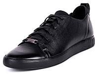 Мужские кожаные спортивные туфли черные Mida 110413 129c94af60f47