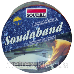 Лента монтажная битумная (кровельная герметизирующая лента) 7.5см/10м SOUDABAND Soudal, терракота