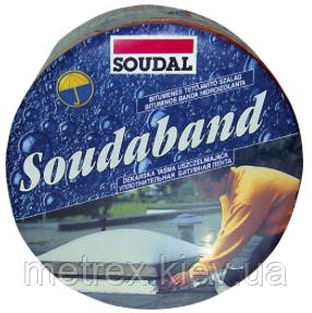 Лента монтажная битумная (кровельная герметизирующая лента) 10см/10м SOUDABAND Soudal, коричневый