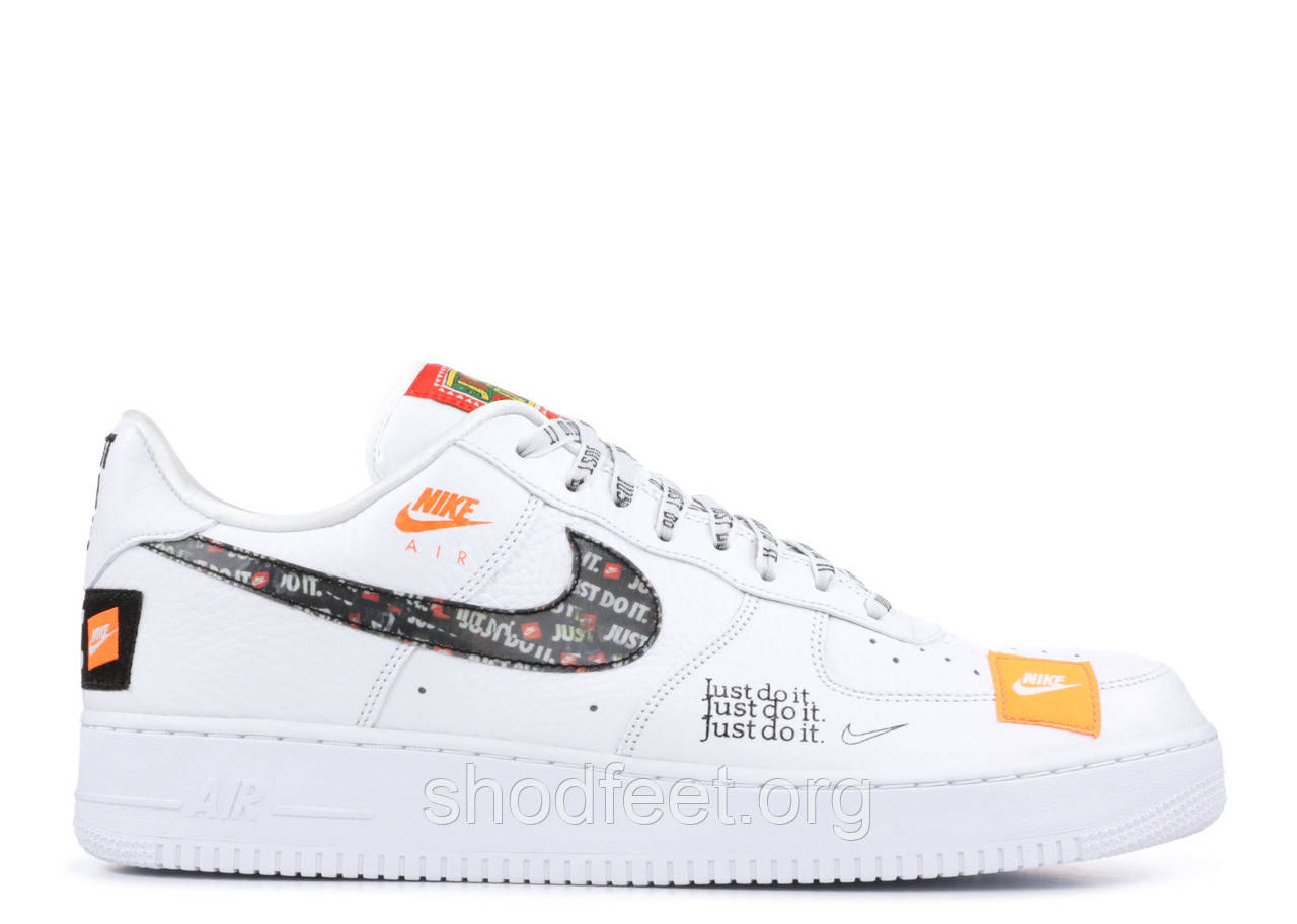 "Мужские кроссовки Nike Air Force 1 '07 Premium ""Just Do It"" White"