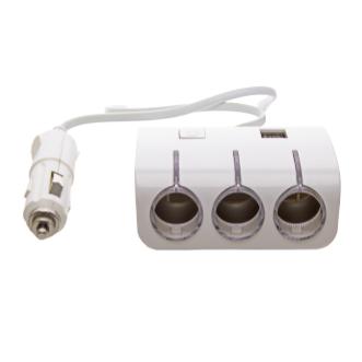 Автомобільний розгалужувач трійник 3+2 USB 1506A / 1505A, автомобільний трійник сплітер