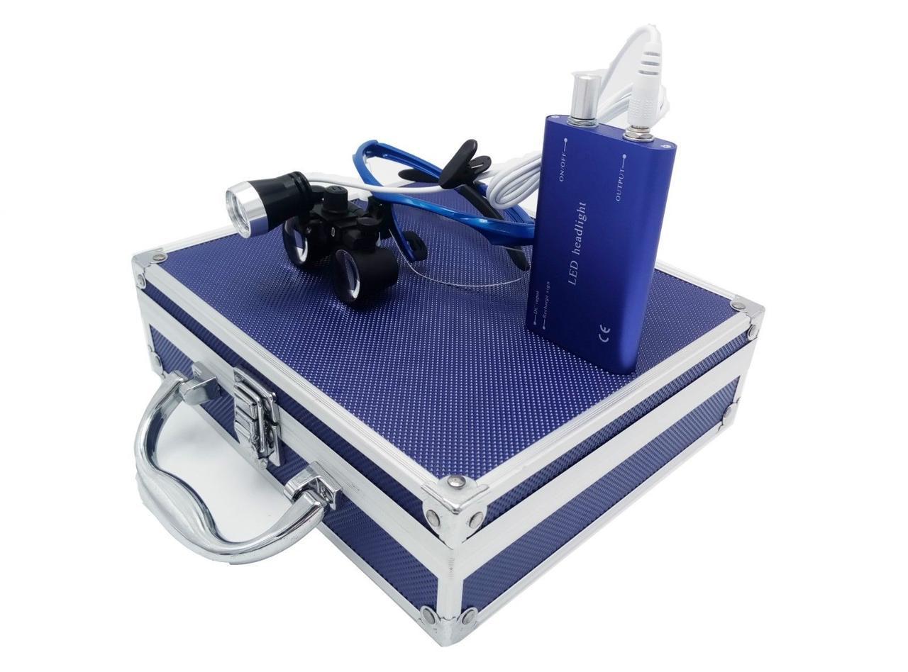 Комплект бинокуляры 3.5x-420 + подсветка, blue