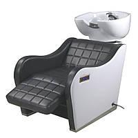 Парикмахерская кресло мойка Люкс с МАССАЖЕМ /электро-регулируемой подножкой /глубокая керамика для мойки 2259