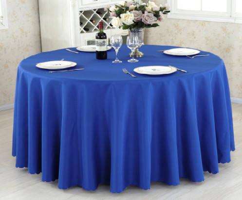 Скатерть круглая Банкетная 275см, Синий, фото 2