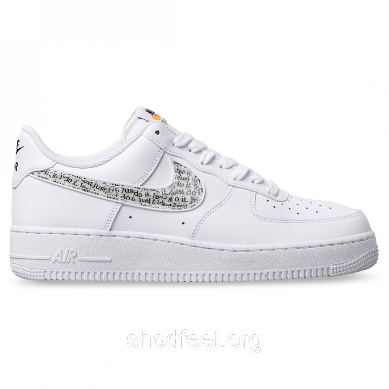 Мужские кроссовки Nike Air Force 1 '07 LV8 Just Do It  White
