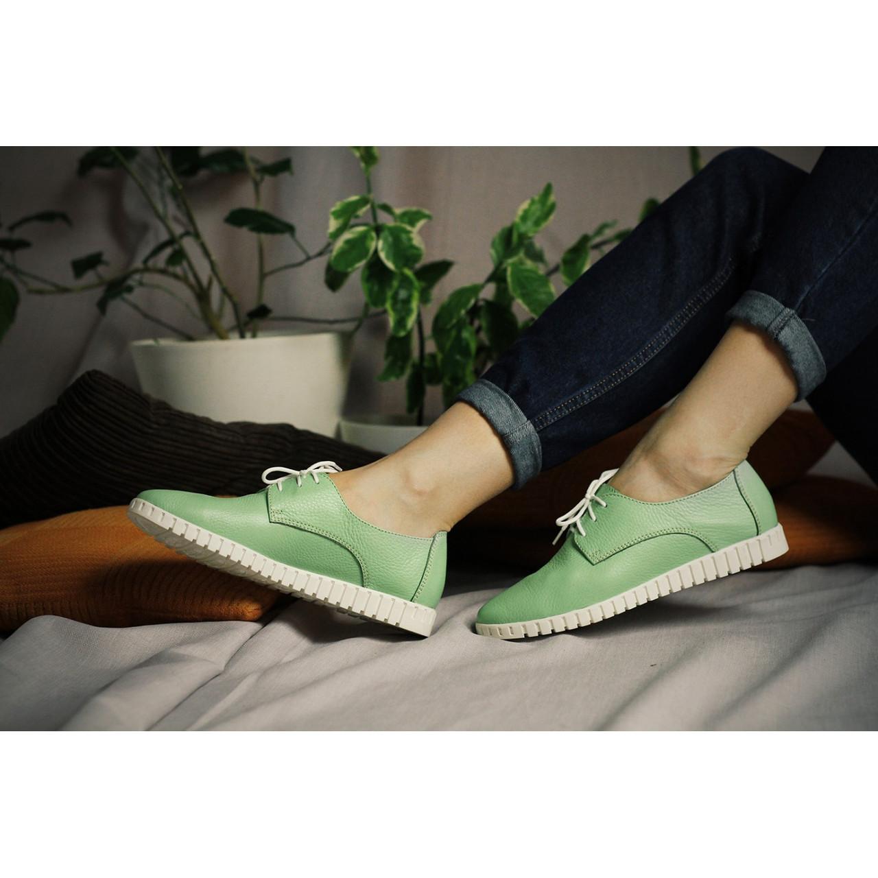 485502a8 Зеленые кожаные кеды - Интернет магазин женской обуви
