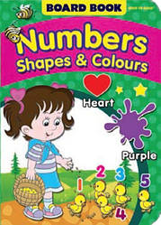 Board Book NEW Numbers, Shapes and Colours