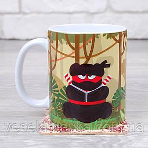 Чашка Ninja 4 (Желейный медведь Валерка)