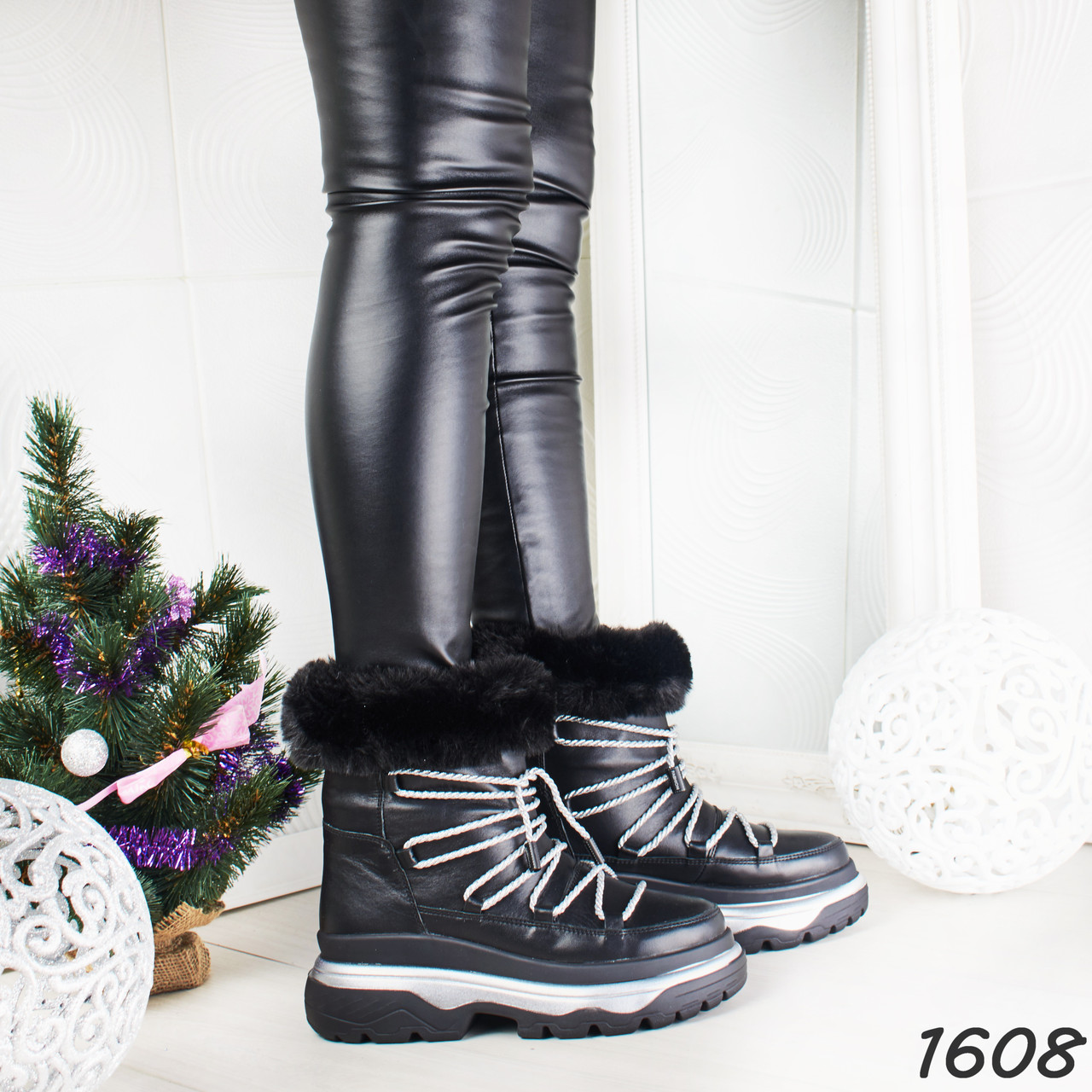 51b809b9e Ботинки женские зимние черные кожаные на подошве спортивные,из натуральной  кожи,натуральная кожа,зима