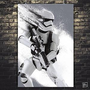 Постер Имперский штурмовик, Звёздные Войны. Размер 60x40см (A2). Глянцевая бумага