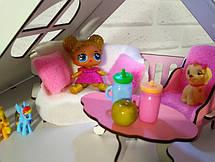Будиночок для LOL. Будиночок для маленьких ляльок ЛОЛ 2123 з меблями, текстилем, шпалерами, шторками, двориком і фермою, фото 3