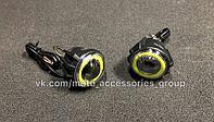 LED фары с ангельскими глазками 1100 LM
