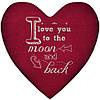 Подушка-серце, 2 розміри+3D - I love you to the moon and back
