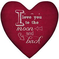 Подушка-серце, 2 розміри+3D - I love you to the moon and back, фото 1
