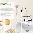 Проточный водонагреватель Delimano, экран, душ, нижнее, боковое подключение, бойлер в стиле Делимано Нижнее подключение, фото 6