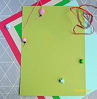 Бумага для пастели салатовая, Tiziano A4 (21*29,7см), №11 verduzzo, 160г/м2, среднее зерно, Fabriano