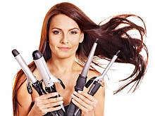 Приборы для укладки волос (плойки, утюжки, фены)