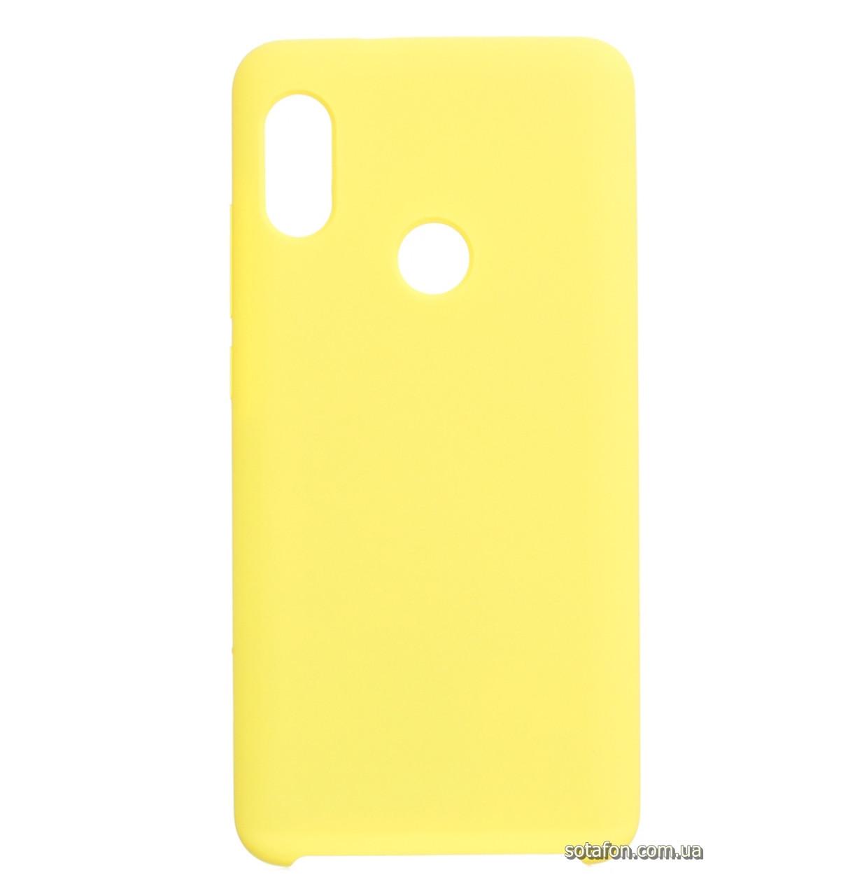 Чехол-накладка Original Silicone case на Xiaomi Redmi Note 5 Pro / Note 5 (AI Dual Camera) Yellow
