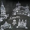 Эко сумка  хозяйственная с замочком  Лондон серая (спанбонд)