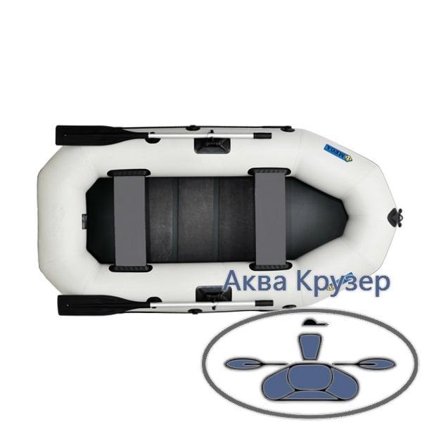 Човни надувні пвх Omega Ω 245 LS (двомісна гребний човен з поворотними кочетами і рейкової сланью)