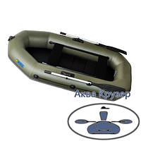 Надувні човни пвх Omega Ω 245 LS(PS) (гребний човен з рейковою сланью і регульованими сидіннями)