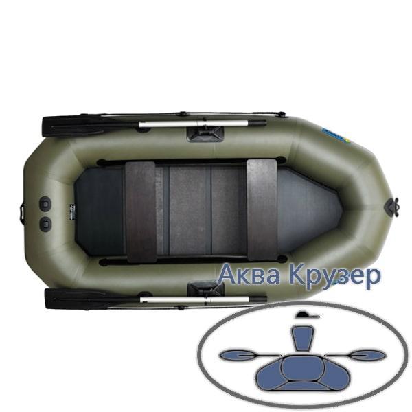 Надувний човен пвх Omega Ω 245 LST(PS) (навісний транец, слань і регульовані банки)