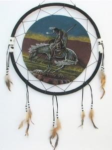 """Ловушка для снов """"Индеец на коне"""""""