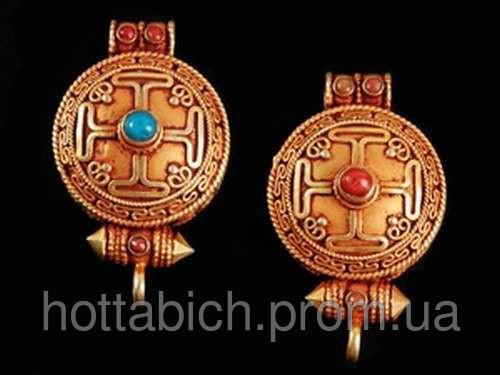 Тибетский талисман Мандала позолота