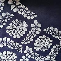 Эко сумка  хозяйственная с замочком абстракция цветы    (спанбонд)
