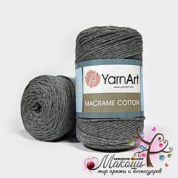 Пряжа Macrame Cotton YarnArt, №774, средне-серый