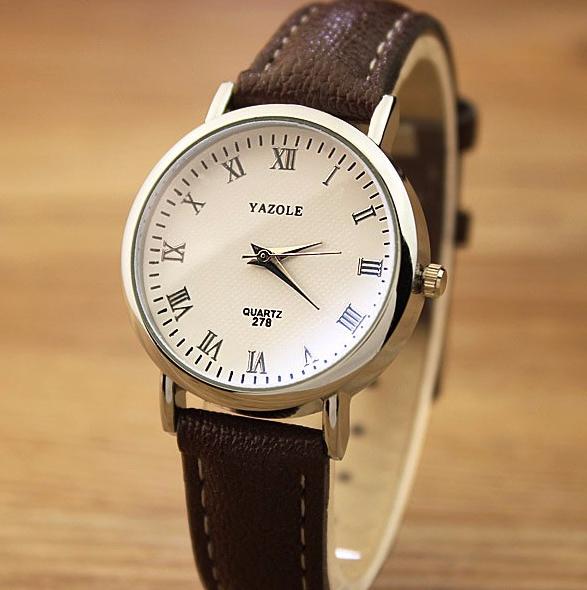 324a6951 Стильные часы женские с коричневым ремешком код 359 - Клуб 69 в Киеве