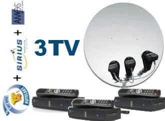 Базовый HD Стандарт 3 - на 3 телевизора спутниковый комплект