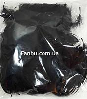 Декоративные черные перья в пакете (1уп.120-130 перьев), фото 1