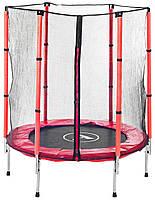 Батут Atleto 140 см з сіткою Червоний (Спортивний батут)