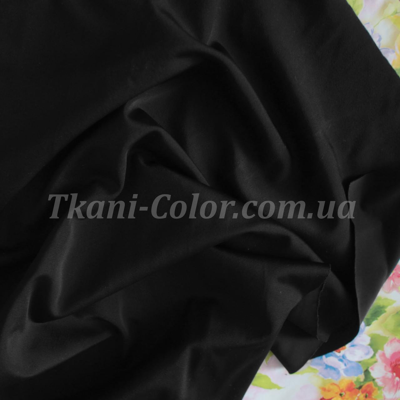 Трикотаж бифлекс (купальник) матовый черный