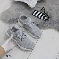 Кроссовки серые обувной текстиль+сетка  2256, фото 1