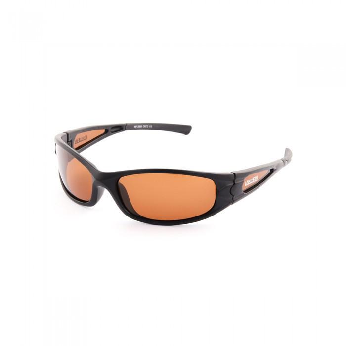 Очки поляризационные Norfin 08 (поликарбонат, линзы коричневые) черного цвета
