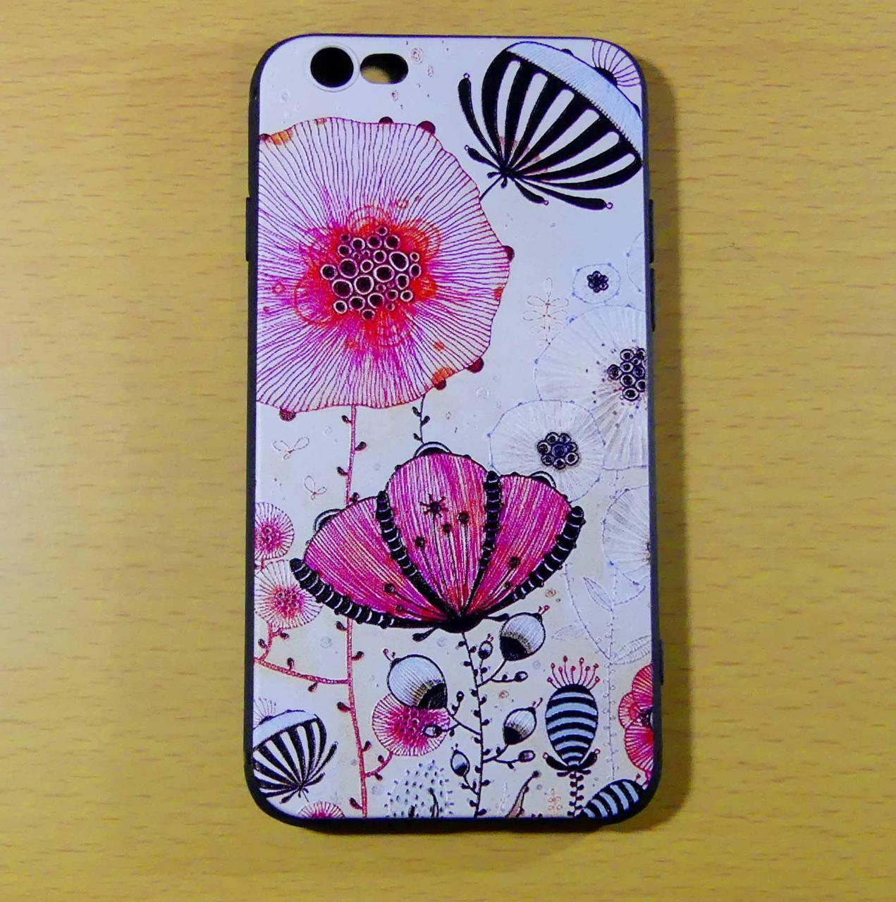 Чехол МАКИ EXOTIC тисненый силиконовый 8 iPhone
