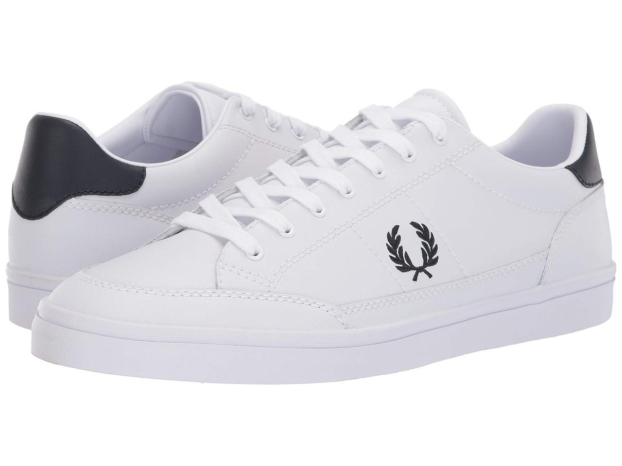 750236bb Кроссовки/Кеды (Оригинал) Fred Perry Deuce Leather White/Navy - TopUSA