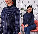 Женская принтованная классическая рубашка 55ru209, фото 2